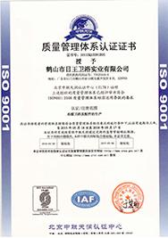 桓迪卫浴 ISO9001认证(中文)