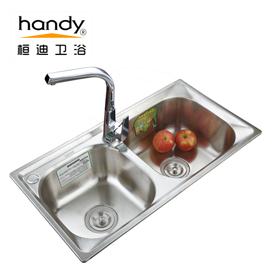 桓迪不锈钢拉伸水槽双槽 HD-7843X